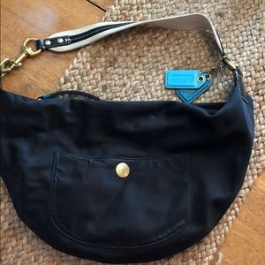 80eb25506f3e Women s Coach Black Nylon Hobo on Poshmark